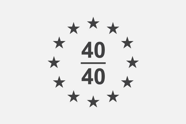Europe 40 under 40 Award.